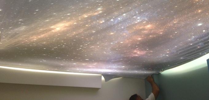 Soffitto cielo stellato: ecco come fare - Tensocielo